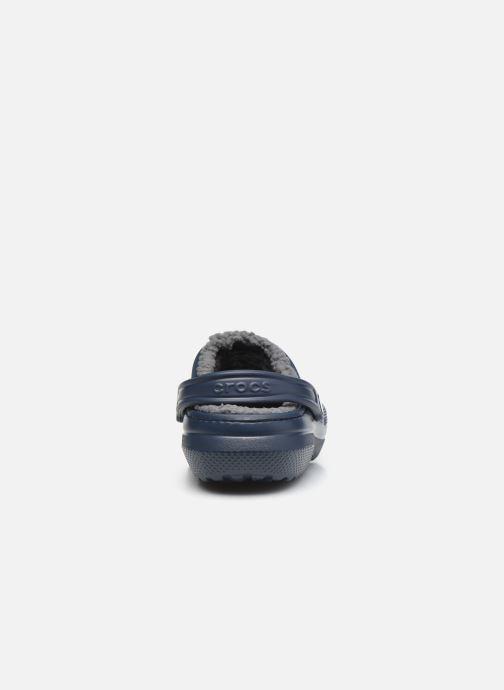 Sandalias Crocs Classic Lined clog Azul vista lateral derecha