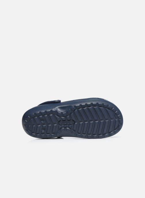Sandales et nu-pieds Crocs Classic Lined clog Bleu vue haut