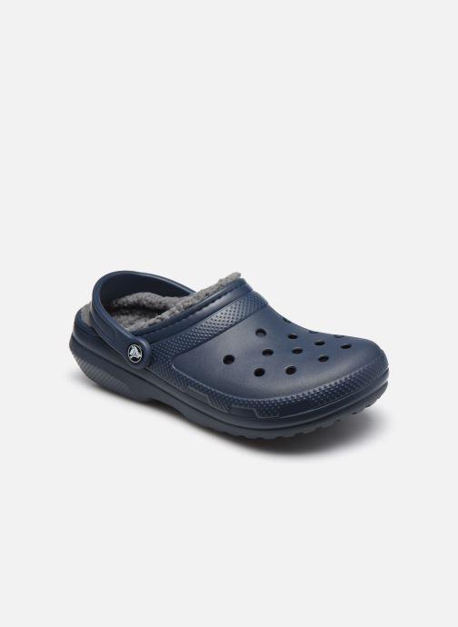 Sandales et nu-pieds Crocs Classic Lined clog Bleu vue détail/paire