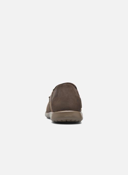 Mocassins Crocs Santa Cruz 2 Luxe Leather M Marron vue droite