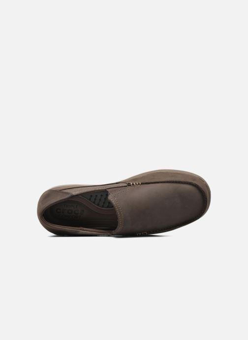 Mocassins Crocs Santa Cruz 2 Luxe Leather M Marron vue gauche