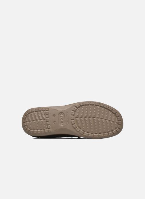 Mocassins Crocs Santa Cruz 2 Luxe Leather M Marron vue haut