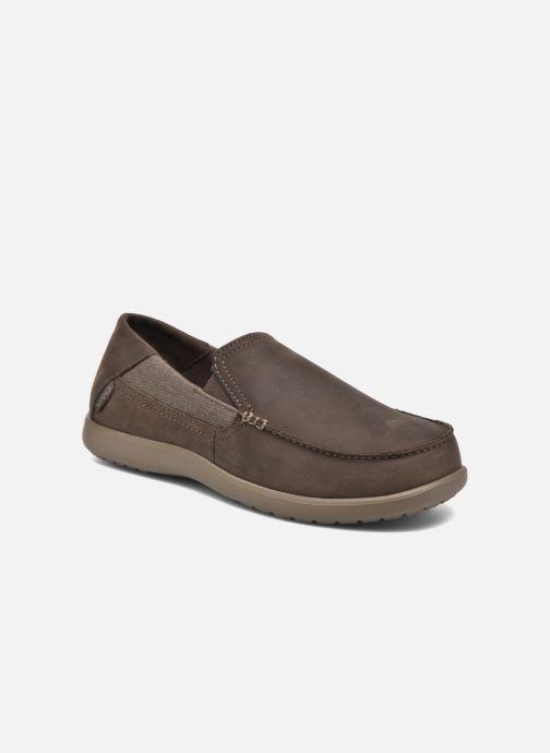 Mocassins Crocs Santa Cruz 2 Luxe Leather M Marron vue détail/paire