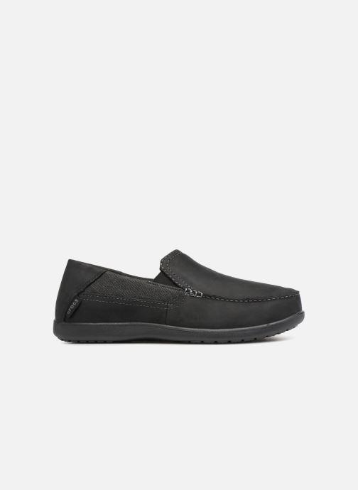 Mocassins Crocs Santa Cruz 2 Luxe Leather M Noir vue derrière