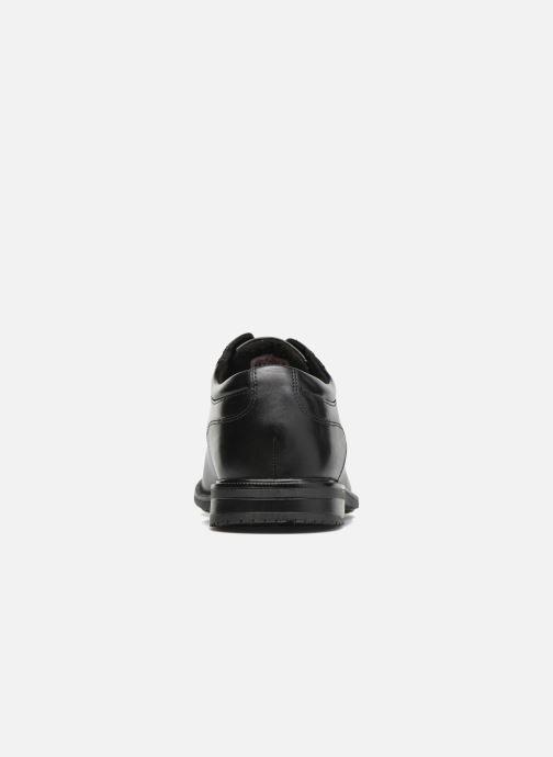 Chaussures à lacets Rockport Esntial Dtl II Plain Toe Noir vue droite