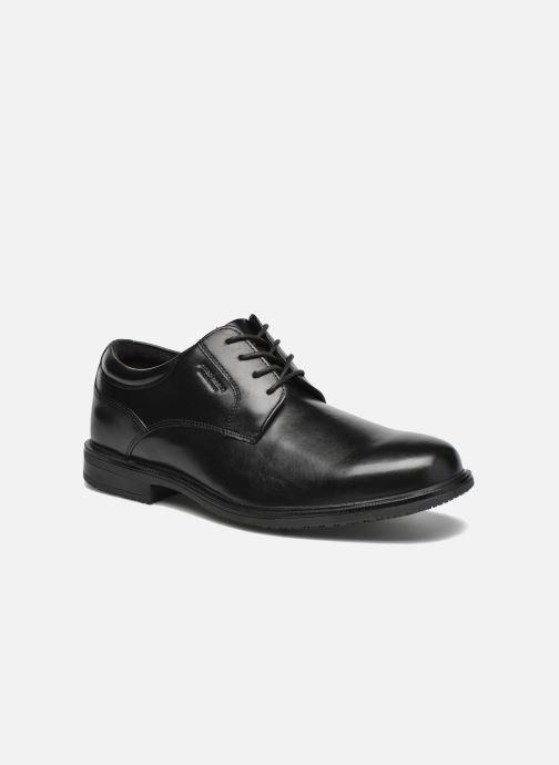 Snøresko Rockport Esntial Dtl II Plain Toe Sort detaljeret billede af skoene