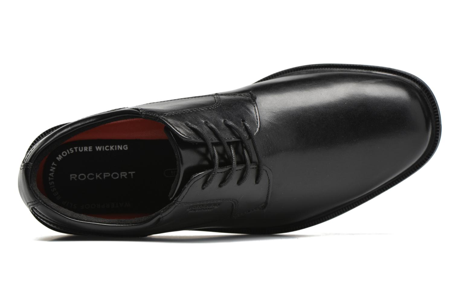 Lace-up shoes Rockport Esntial Dtl II Plain Toe Black view from the left