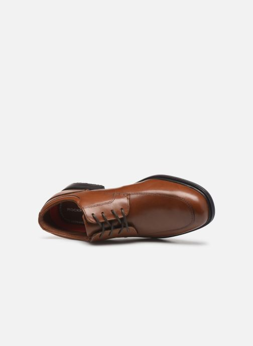 Chaussures à lacets Rockport Esntial Dtl II Apron Marron vue gauche