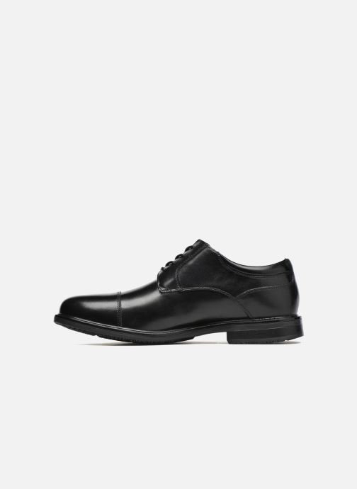 Lace-up shoes Rockport Esntial Dtl II Cap Toe Black front view