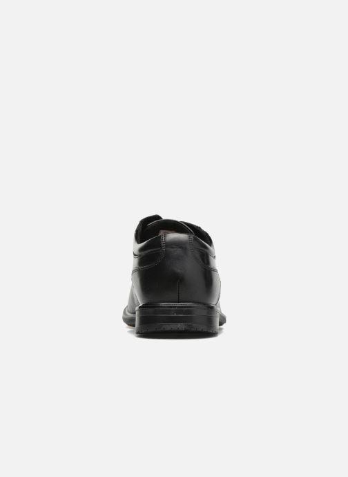 Schnürschuhe Rockport Esntial Dtl II Cap Toe schwarz ansicht von rechts