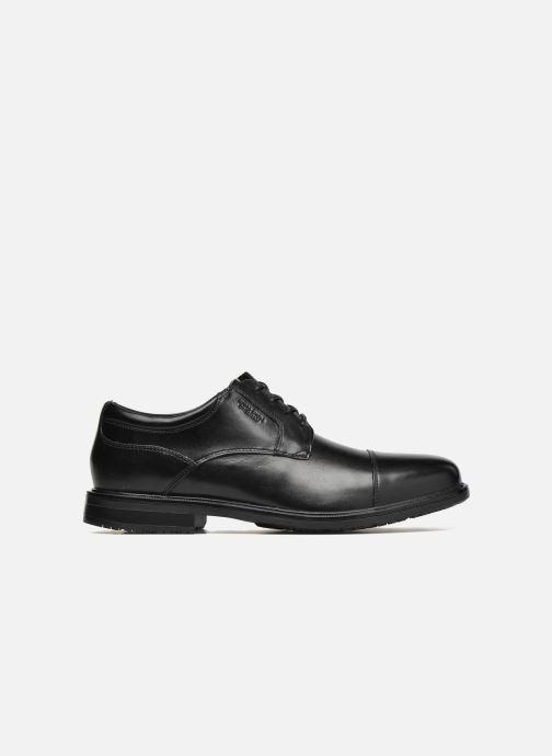 Chaussures à lacets Rockport Esntial Dtl II Cap Toe Noir vue derrière