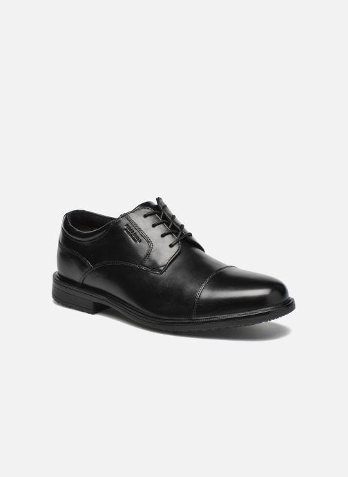 Chaussures à lacets Rockport Esntial Dtl II Cap Toe Noir vue détail/paire