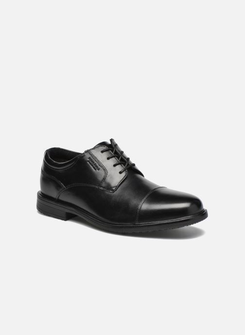 Lace-up shoes Rockport Esntial Dtl II Cap Toe Black detailed view/ Pair view