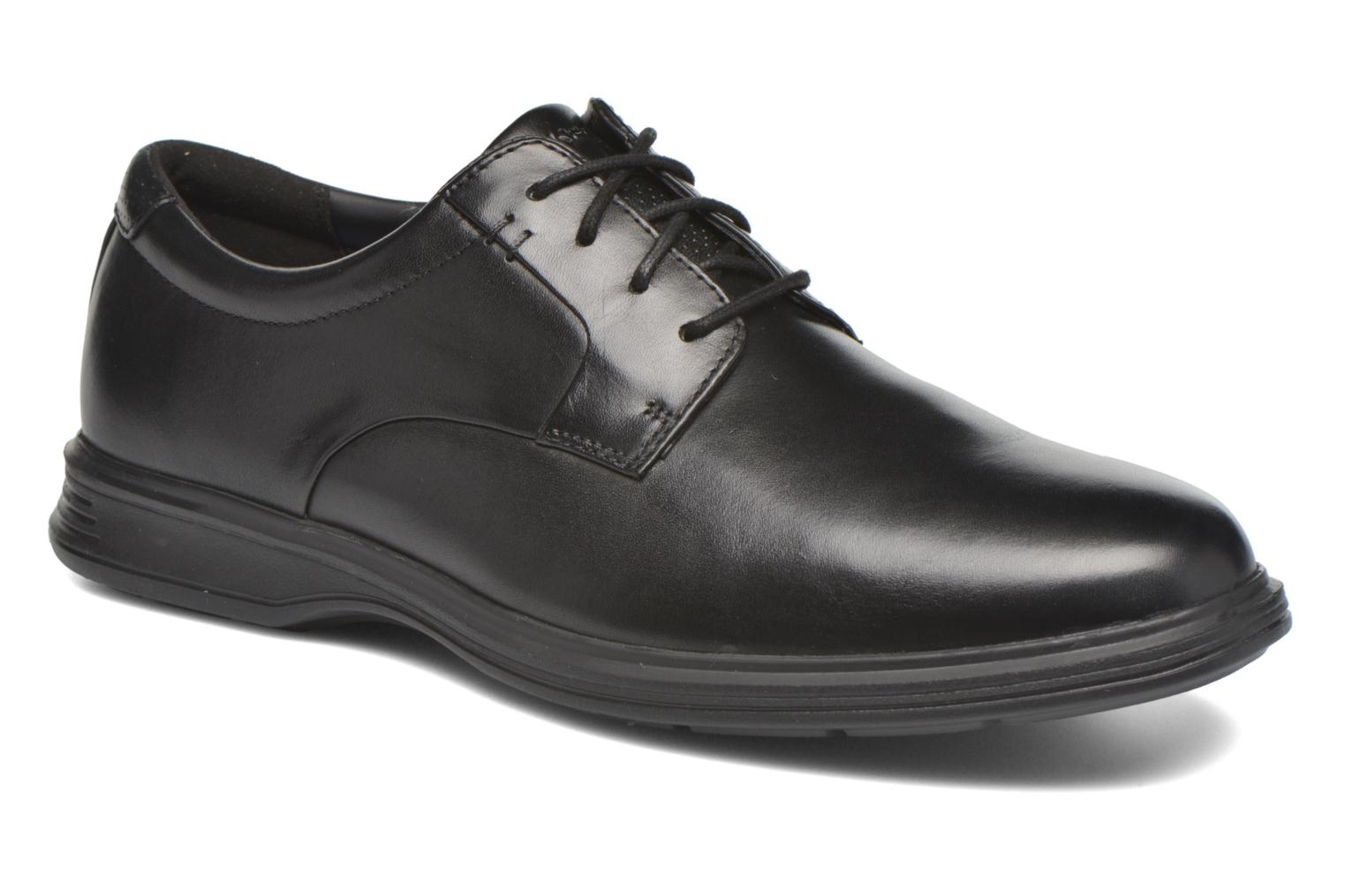 Zapatos con cordones Rockport DP2 Light Plaintoe Ox Negro vista de detalle / par