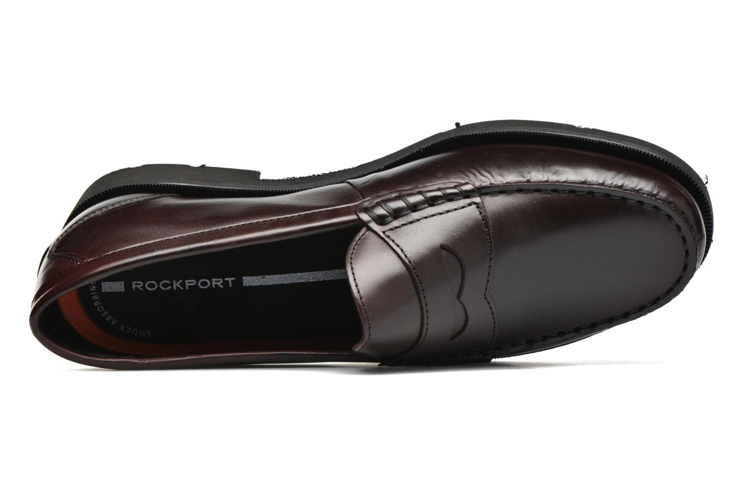 Mocasines Rockport Penny Loafer Marrón vista lateral izquierda