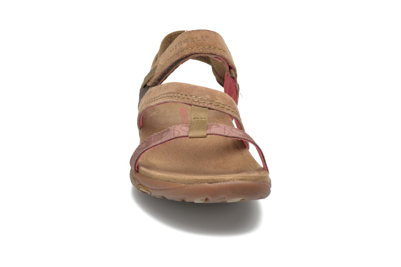 Sandales et nu-pieds Merrell Mimosa Mace Beige vue portées chaussures