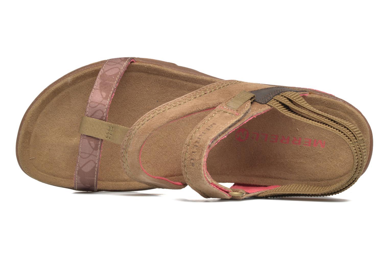 Sandales et nu-pieds Merrell Mimosa Mace Beige vue gauche