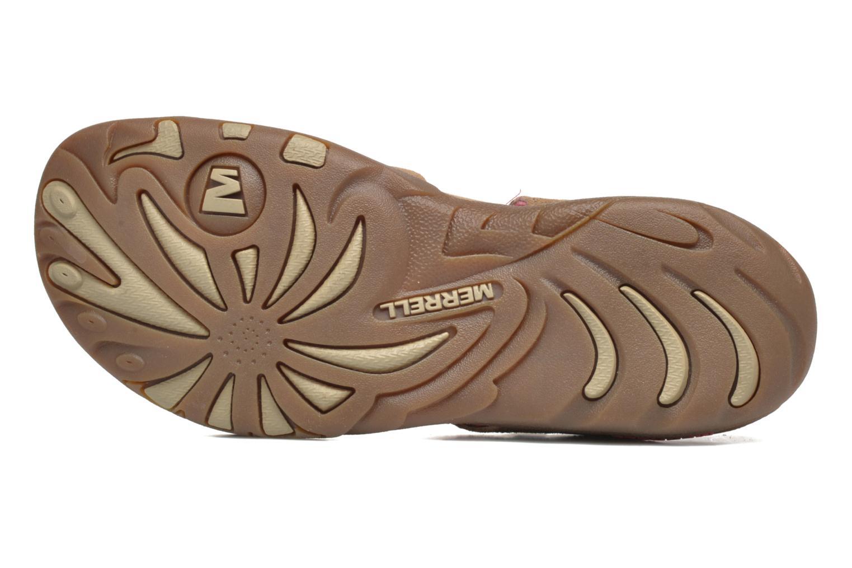 Sandales et nu-pieds Merrell Mimosa Mace Beige vue haut
