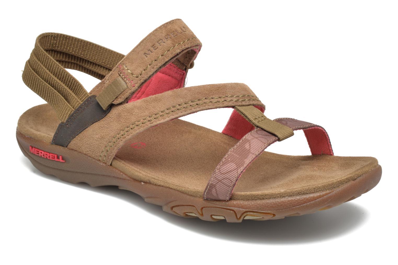 Sandales et nu-pieds Merrell Mimosa Mace Beige vue détail/paire