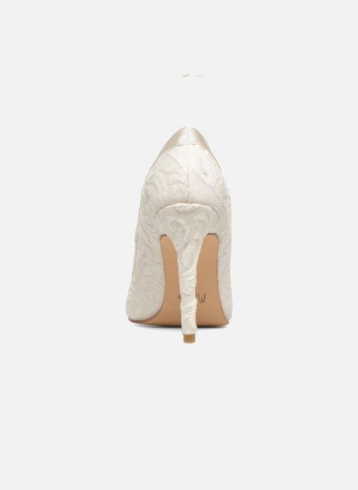 Zapatos de tacón Menbur Giovanna Blanco vista lateral derecha