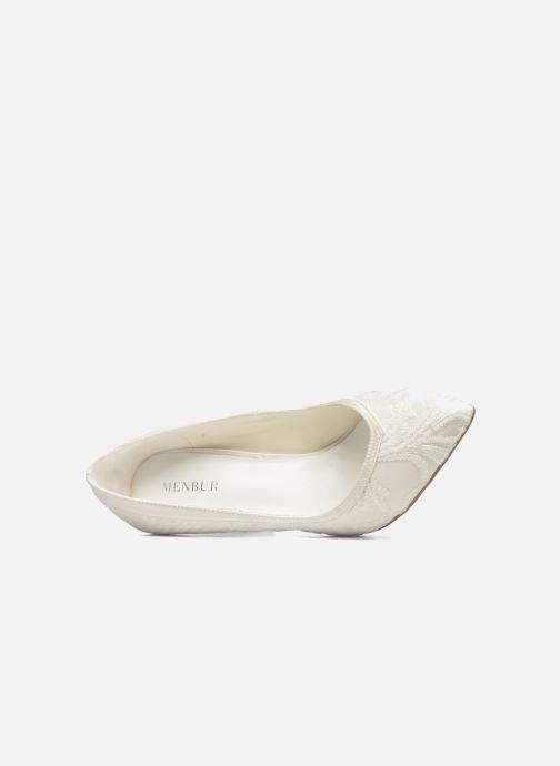 Zapatos de tacón Menbur Giovanna Blanco vista lateral izquierda