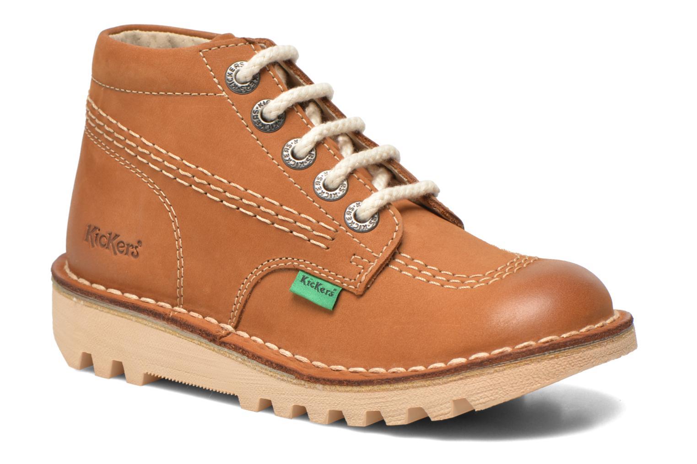 Bottines et boots Kickers Neorallye -2 Marron vue détail/paire
