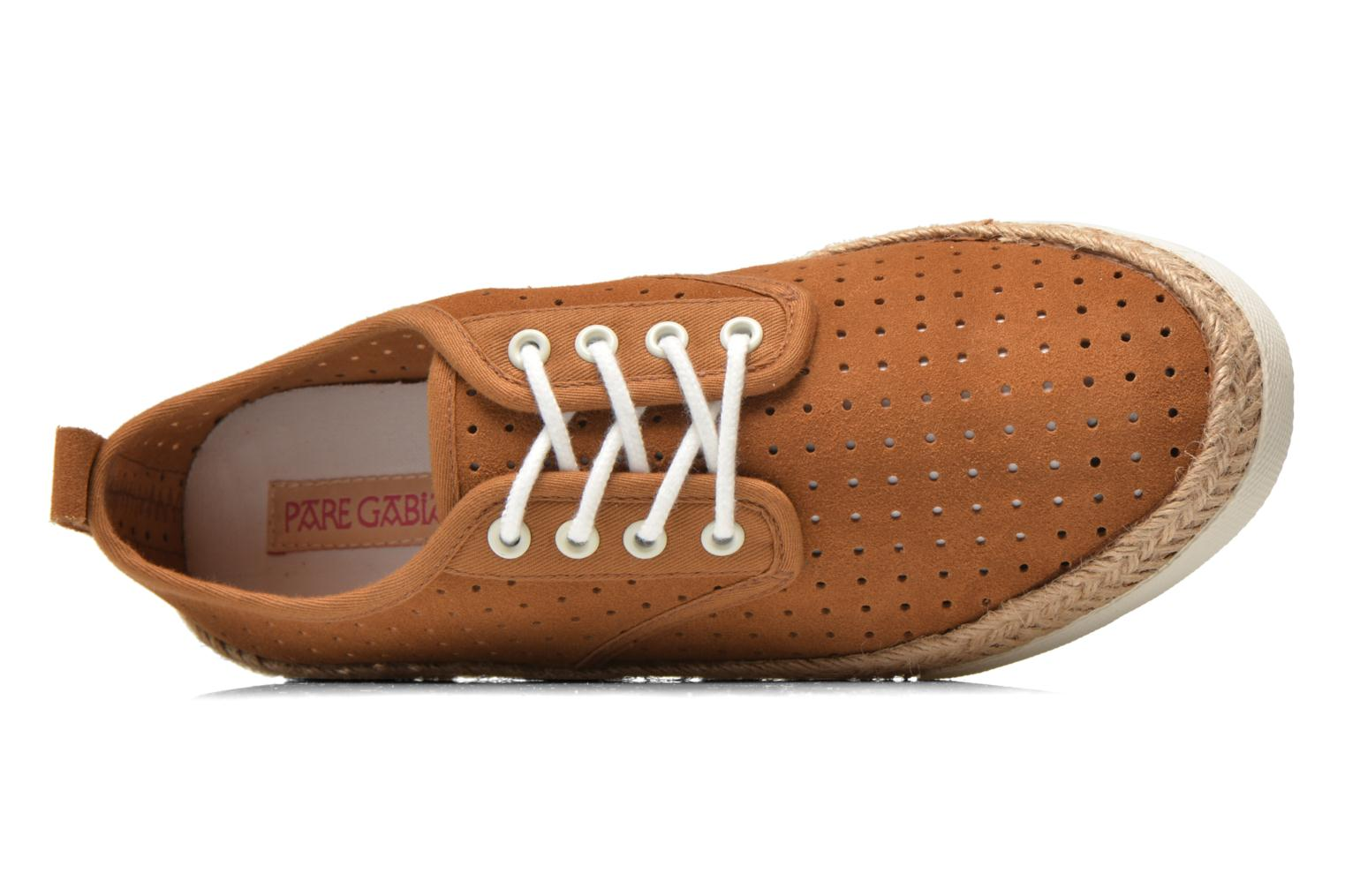 Espadrilles Pare Gabia Alto Brown view from the left