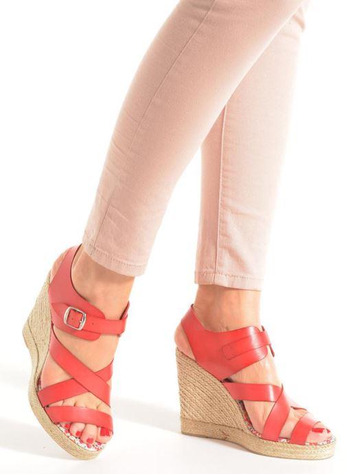 Sandales et nu-pieds Pare Gabia Othello Rouge vue bas / vue portée sac