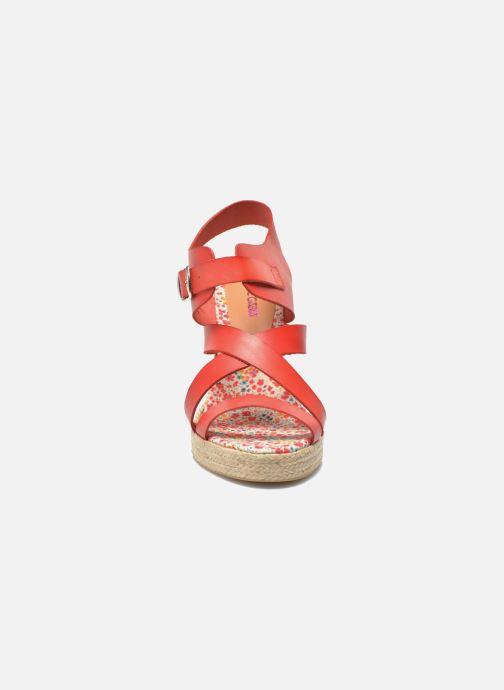 Sandales et nu-pieds Pare Gabia Othello Rouge vue portées chaussures