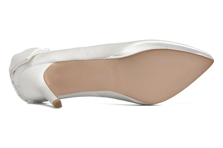 Zapatos de tacón Menbur Amina Blanco vista de arriba
