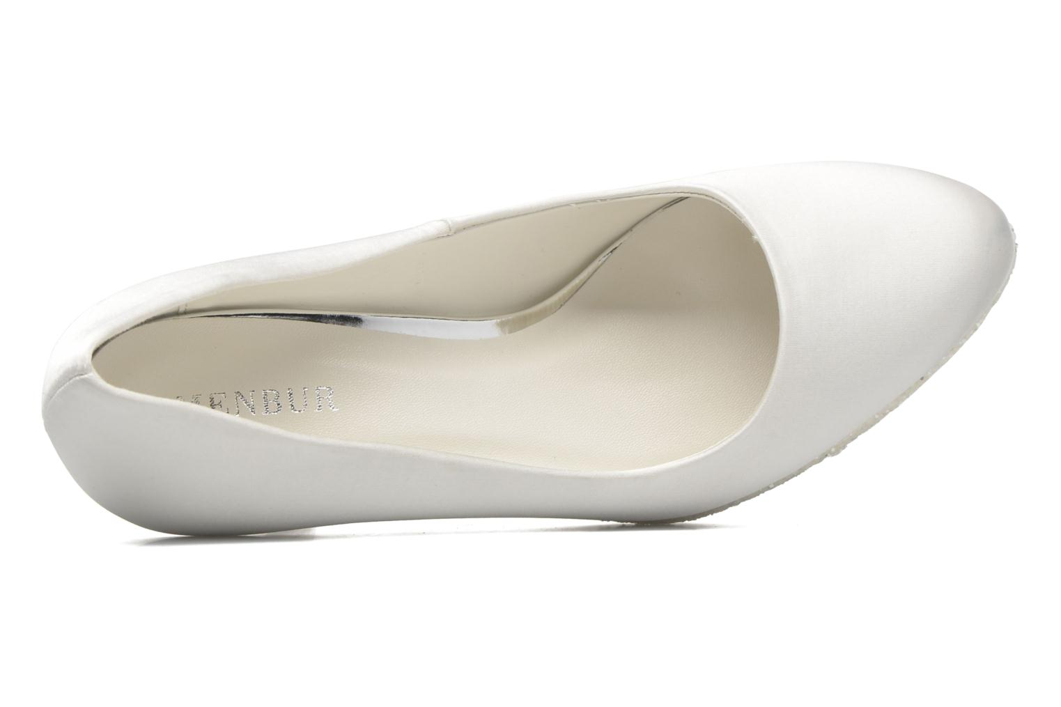 High heels Menbur Cecilia White view from the left