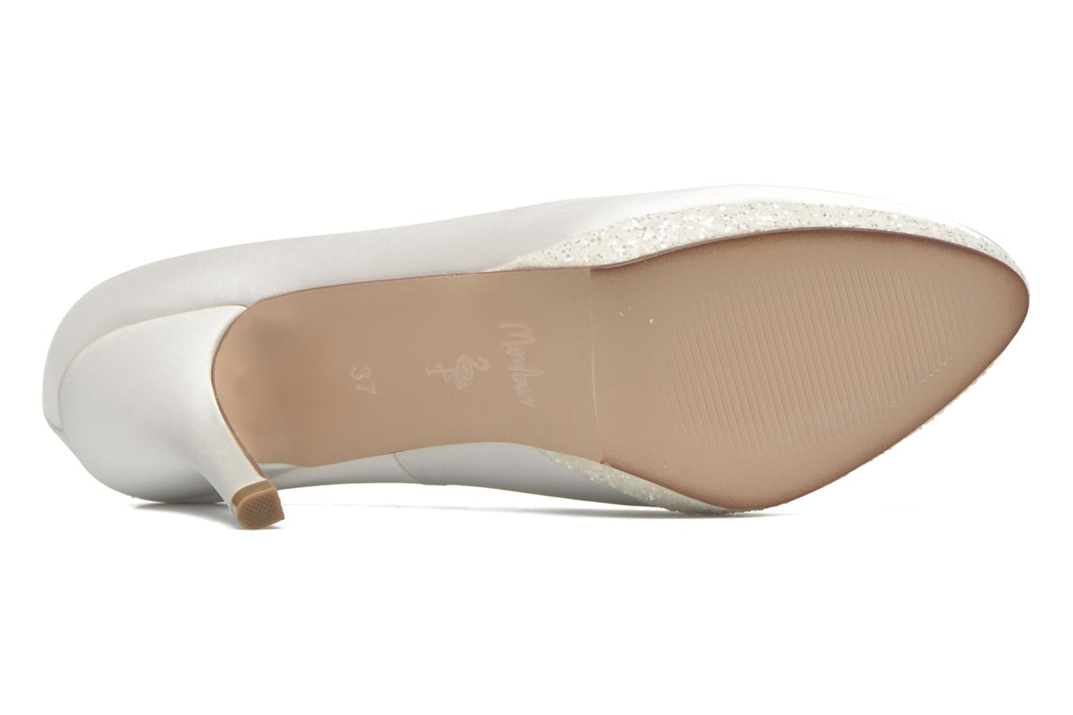 High heels Menbur Cecilia White view from above