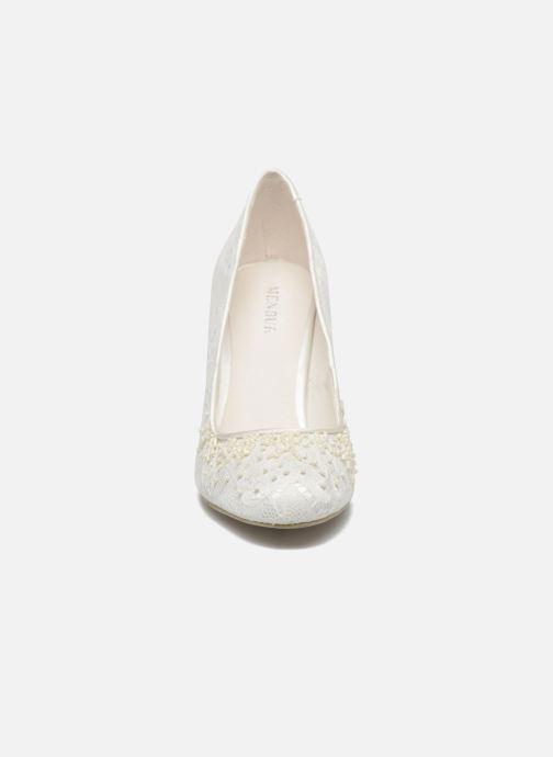 Escarpins Menbur Adriana Blanc vue portées chaussures