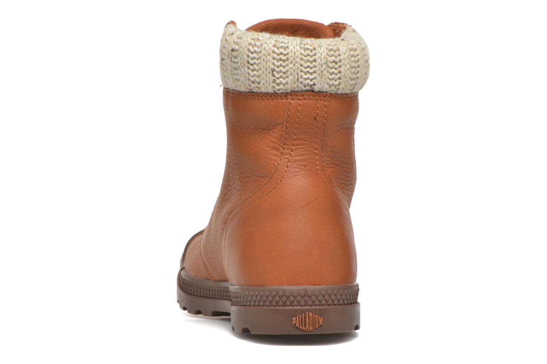 Bottines et boots Palladium Pampa Knit LP F Marron vue droite