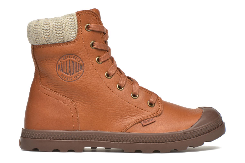 Bottines et boots Palladium Pampa Knit LP F Marron vue derrière
