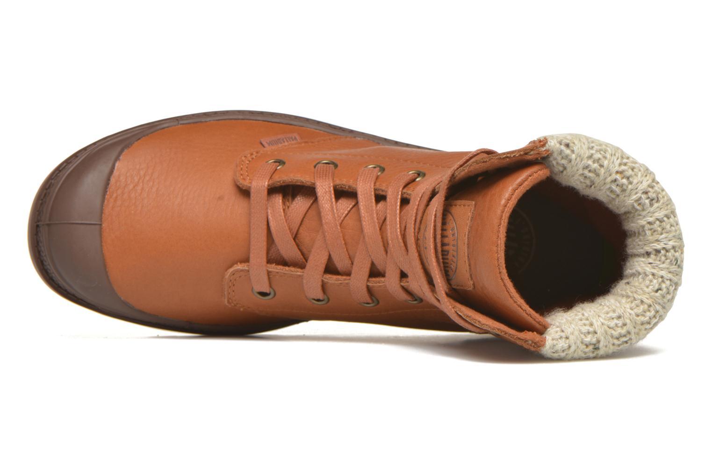 Bottines et boots Palladium Pampa Knit LP F Marron vue gauche