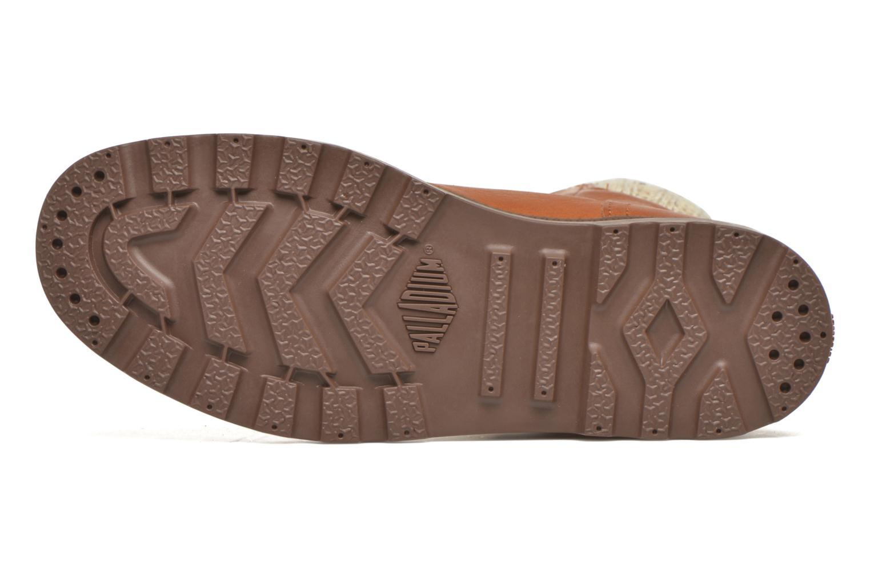 Bottines et boots Palladium Pampa Knit LP F Marron vue haut