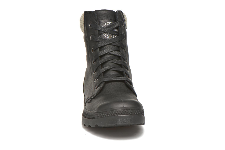 Stiefeletten & Boots Palladium Pampa Knit LP F schwarz schuhe getragen