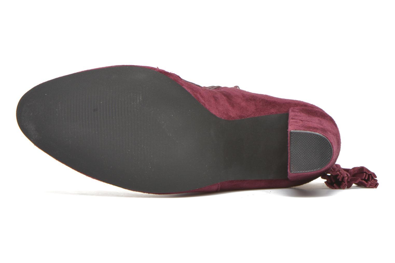 Bottines et boots Steve Madden Glorria Bordeaux vue haut