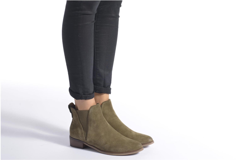 Bottines et boots Steve Madden Nickell Vert vue bas / vue portée sac