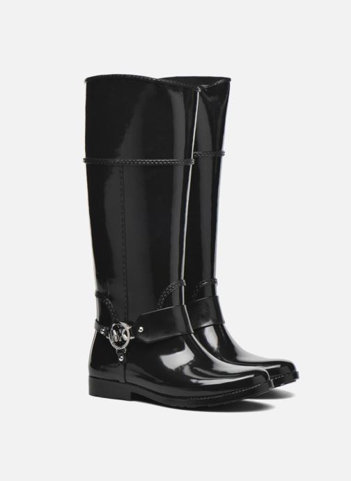 Bottes Michael Michael Kors Fulton harness tall Rainboot Noir vue 3/4