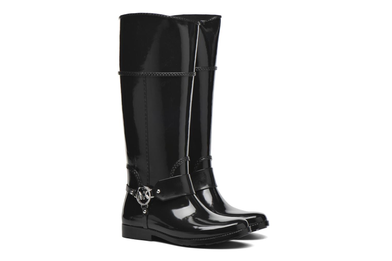 Bottes Michael Michael Kors Fulton harness tall Rainboot Noir vue 3/4