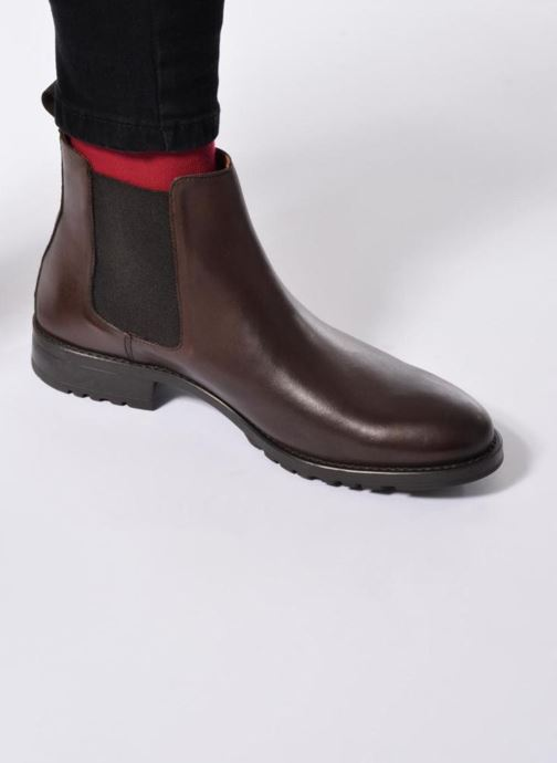 Ankle boots Marvin&co Ahsford Brown view from underneath / model view