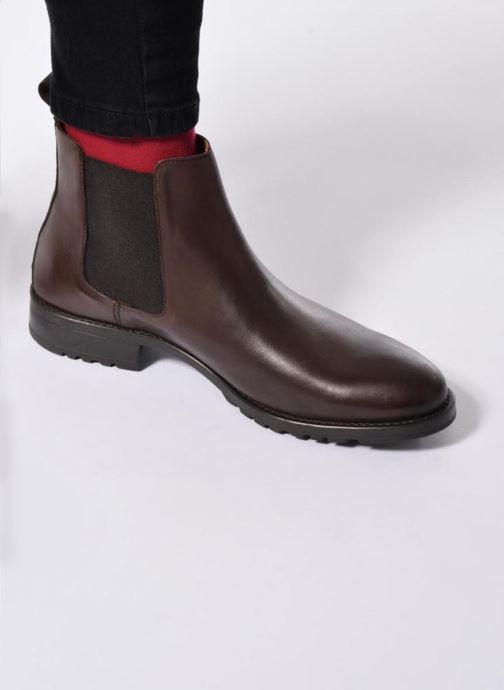 Bottines et boots Marvin&Co Ahsford Bleu vue bas / vue portée sac