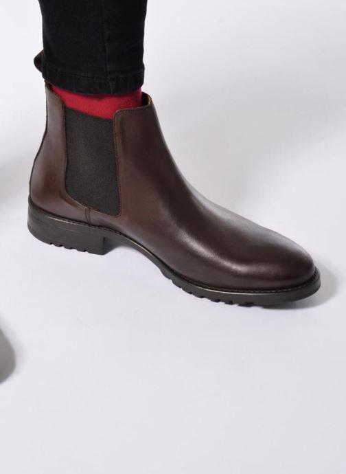 Bottines et boots Marvin&Co Ahsford Marron vue bas / vue portée sac