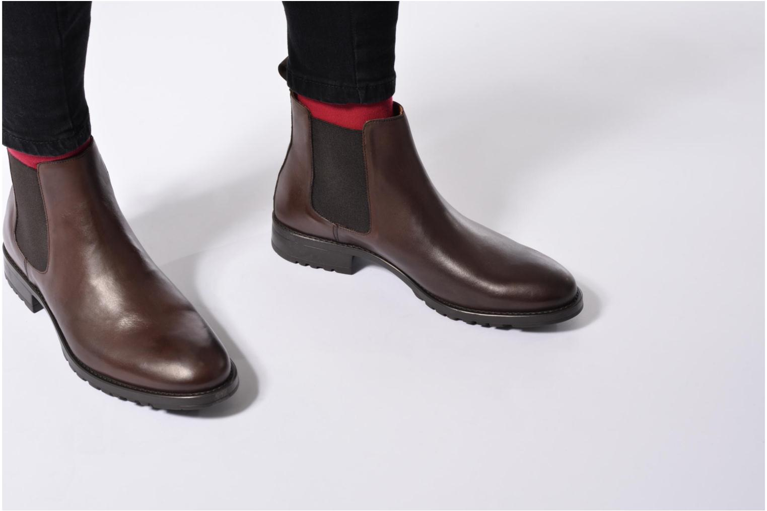 Ankle boots Marvin&co Ahsford Blue view from underneath / model view