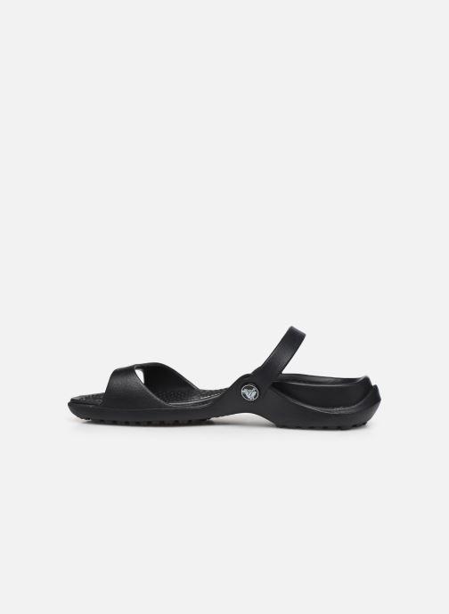 Sandalias Crocs Cleo Negro vista de frente