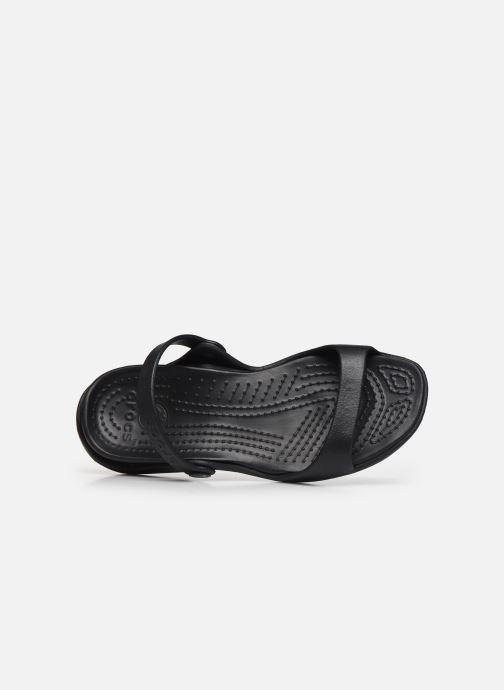 Sandali e scarpe aperte Crocs Cleo Nero immagine sinistra