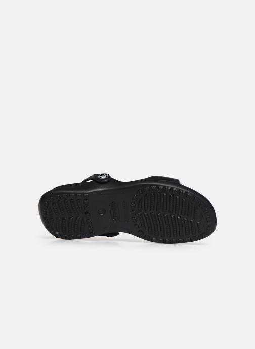 Sandales et nu-pieds Crocs Cleo Noir vue haut