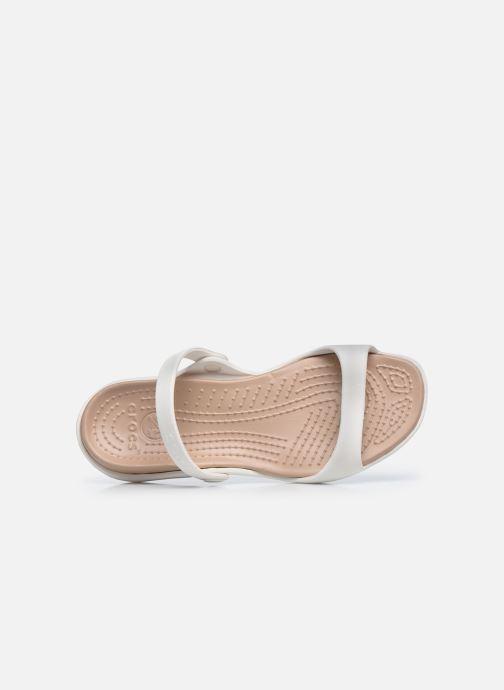 Sandalias Crocs Cleo Blanco vista lateral izquierda